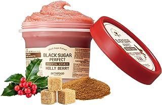 SKIN FOOD [Holiday Edition] Black Sugar First Perfect Essential Scrub 2X Holly Berry Jumbo Size 210g (7.1 oz) - Sweet Berr...