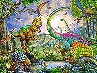 恐竜ダイヤモンド刺繍5DDIYダイヤモンド絵画ダイヤモンドモザイク絵画家の装飾ギフト40x50cm