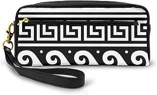 Cosmetic Bag Toiletries Bags Ancient Greek Fret Key Design Makeup Pouch Travel Cases Pen Pencil Bag Power Lines Storage Of...