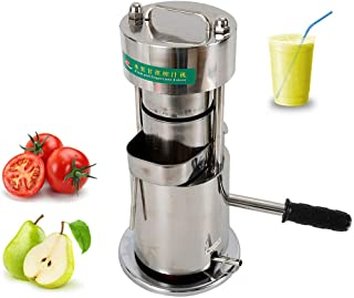 Sugar Cane Juicer Machine, Stainless Manual Hydraulic Fruit Extractor Squeezer Sugar Cane Press Extractor