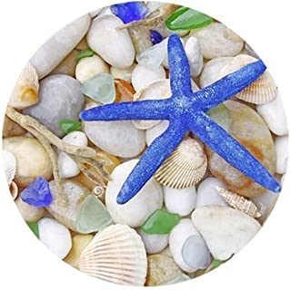 FineMousePad Fantastic Blue Starfish and Sea Shell Personalized Custom Design Round Mouse Pad in 8