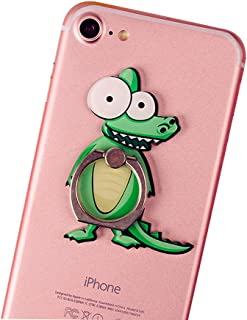 Cell Phone Finger Ring Holder Cute Animal Smartphone Stand 360 Swivel for iPhone, Ipad, Samsung HTC Nokia Smartphones Tablet,by UnderReef (Crocodile)