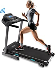 SereneLife Foldable Digital Home Gym Treadmill | Smart Auto Incline Exercise Machine with Downloadable App | Large Running Treadmill with MP3 Player & Stereo Speakers | 2.5HP, 10MPH Speed - SLFTRD35