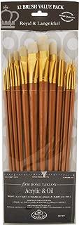 Royal Brush Manufacturing Royal and Langnickel Zip N' Close 12-Piece Brush Set, Firm Bone Taklon
