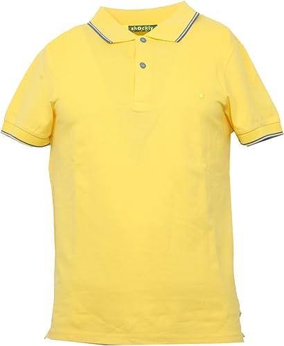 SHOCKLY B3421 Polo hommes jaune Manica Corta t-Shirt Polo Hommes