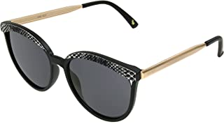 Nine West Women's Bella Sunglasses Cateye, Snake, 55mm