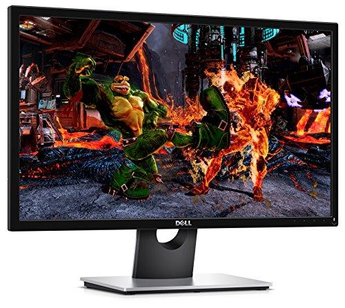 DELL, Monitor Pc SE2417HG da 24 Pollici, Schermo LCD Full HD, Risoluzione 1920x1080 Pixel, Retroilluminazione a LED, Entrate VGA/HDMI, Colore Nero