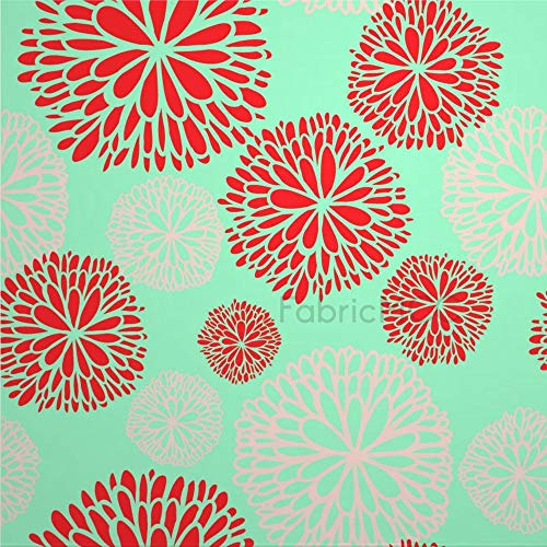 daoyiqi Juego de adhesivos decorativos para azulejos, diseño de plantas Dahlia, diseño floral, 4 x 4 pulgadas, vinilo adhesivo para suelo de azulejos de vinilo resistente al agua, 12 unidades