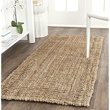 Safavieh Natural Fiber Collection NF447A Hand Woven Natural Jute Runner (2'6  x 8')
