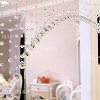 D4P 10 Strings Acrylic Crystal String Bead Haniging Curtain With Glass Drops Transparent