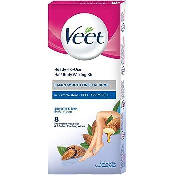 Veet Half Body Waxing Kit for Sensitive Skin - 8 Strips