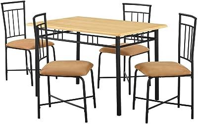 Amazon.com: Giantex - Juego de mesa de comedor y 4 sillas de ...