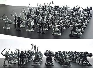 兵士フィギュアモデル中世の騎士戦士子供のおもちゃ、ミニチュアシミュレーション戦士古代兵士フィギュア静的モード(60個)