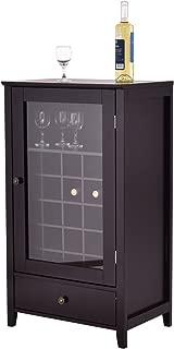 Giantex Wood Wine Cabinet Storage Home Shelf Wine Bottle...