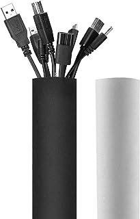 Elora 130 بوصة كم إدارة الكابلات ، نظام منظم إدارة الحبل النيوبرين القابل للقطع ، غطاء مرن لتغليف الكابلات المخفية السلكية...