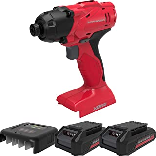 POWERWORKS XB 20V Cordless Impact Driver, 2 Batteries and Charger Included ISG303