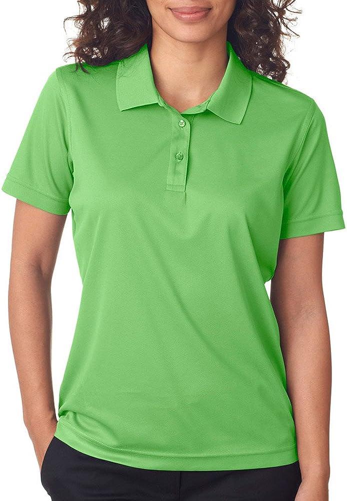 UltraClub Cool & Dry Women's Moisture Wicking Mesh Polo Shirt