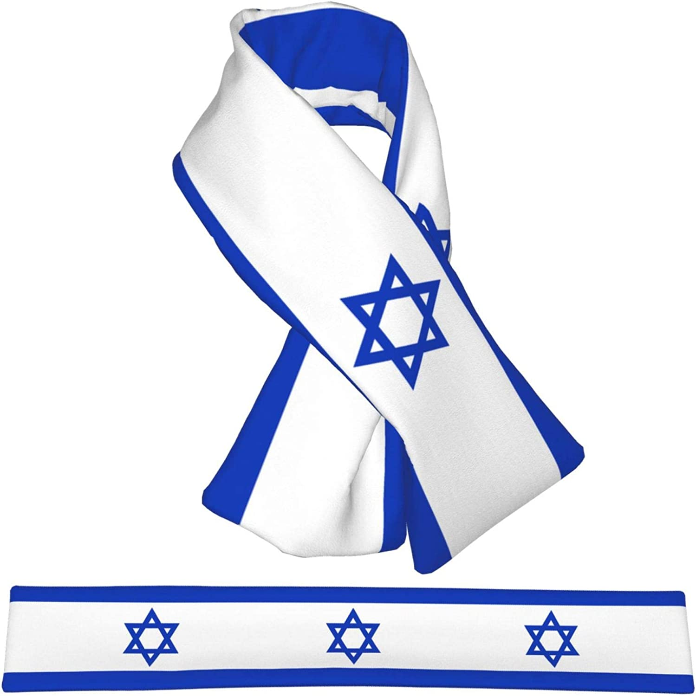 Winter Scarfs Israel Flag Scarves Wraps Neck Warmer Flannel Winter Cross Tie Scarves