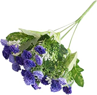 YINGYUE 1 Bouquet 25 Heads Artificial Lilac Flower Home Office Wedding Party Decor Photo Prop Purple