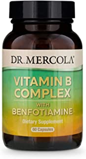 Dr. Mercola Vitamin B Complex with Benfotiamine, 30 Servings (60 Capsules)