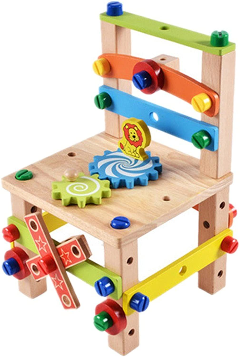 Multi Functional Assembly and Disassembly Tools Chair Wooden Construction Set