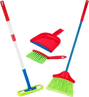 Play22 Kids Cleaning Set 4 Piece – Toy Cleaning Set Includes Broom, Mop, Brush,..