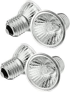 MD Lighting 4-Pack UVA UVB Reptile Heat Lamp Bulb, E26/E27 75 Watt Full Spectrum Sun Light Lamp for Bearde Dragon, Lizard, Turtle, Gecko & More