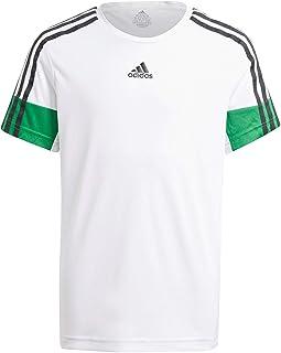 Adidas Aeroready Primeblue Striped Sleeves Slim Fit T-shirt for Boys