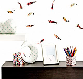 residentD Creative Carp Wall Stickers Home Background Wall Decorative Decal DIY
