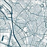 Poster 100 x 100 cm: Stadtplan von Utrecht von 44spaces -