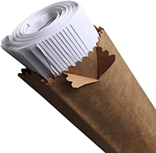 "8.25"" Opening, 44"" Long, 25 Paper Blueprint Shipping Bags (PlanBags 8 x 5 x 44-25 Bags) 2-Ply 70# Kraft Paper •Poly is More Popular•"