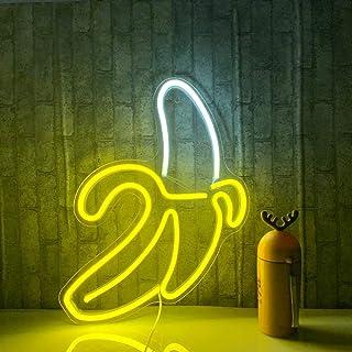 Banana Neon Signs LED Neon Lights Art Wall Luces decorativas Luces de neón para dormitorio Pared Niños Dormitorio Fiesta de cumpleaños Bar Decoración 11''x19