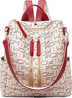 MASARA Fashion Leather Backpack Purse for Women, Designer PU Shoulder Bag Handbags Travel Purse