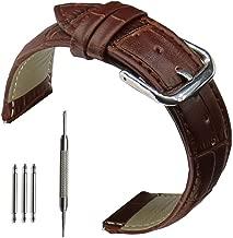 ساعة يد بسوار جلد البقر الطبيعي 18مم 20 مم 22 مم 24 مم للرجال والنساء من OTOPO, 22mm(Galaxy Watch 46mm/ Gear S3/Ticwatch Pro)