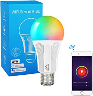 MoKo Smart WiFi LED Light Bulb, E26 9W Dimmable Light,Soft White,Compatible with Alexa Echo,Google Home & IFTTT for Voice Control, APP Remote Control with Timer Function, No Hub Required, White