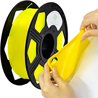 YOYI TPU 3D Printer Filament, Flexible Filament 1.75mm,100% Virgin Raw Material,0.8KG Spool,Dimensional Accuracy +/- 0.03 mm (Yellow)