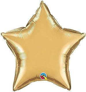"""Qualatex 20"""" Star-Chrome Gold Foil Balloon"""