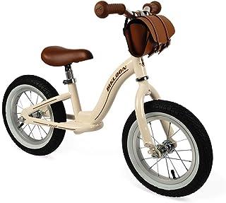 Janod J03294 metallbalanscykel, inlärning av balans och oberoende, justerbar sadel, uppblåsbara däck, med ficka, beige, fö...