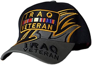 TM Embroidered Shark Fin Iraq Veteran Bar Baseball Caps Hats