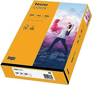 inapa Tecno Colors Lot de 250 feuilles de papier coloré 160 g/m² Format A4 Orange moyen
