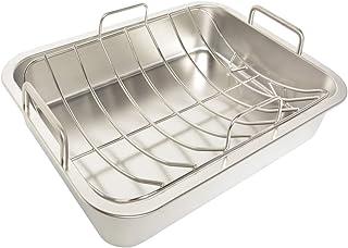 Only fire - Fuente para horno de acero inoxidable con soporte de 5