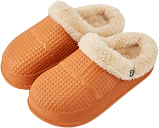Slippers Women Waterproof House Shoes for Girls Fur Lined...