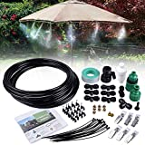 MIXC 26.2FT Outdoor Mist Cooling System Fan Misting Kit Animal Plants Swimming...