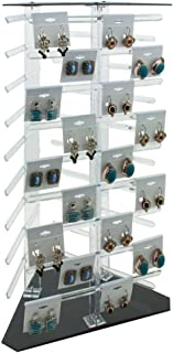 Clear Plastic Rotating Jewelry Earring Card Display Holder ~ Holds 108 Cards