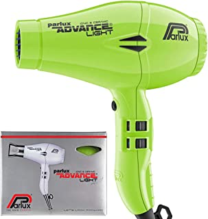 Parlux Advance Light Ionic & Ceramic Dryer 2200W Hair Dryer, Green
