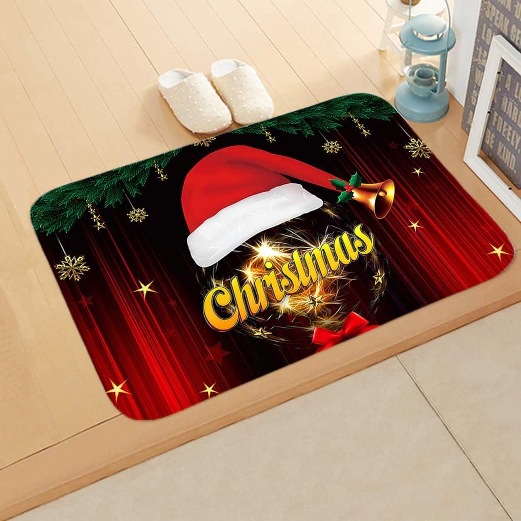 Fangfeen Navidad con Temas de Interior de la Puerta del coj/ín del pie Mat Anti Slip Ba/ño Alfombras Cocina Pasillo WC Alfombras Antideslizantes