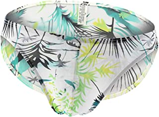 D DOLITY Men Silk Boxer Briefs Stretch Breathable Sexy Low Rise Underwear 3 Patterns, X, XL, XXL