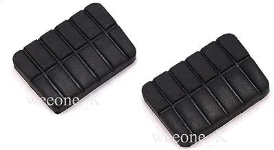 Pedal Pad Brake Clutch Black 2 Pc For Nissan Big-m D21 Pickup 1989-1997