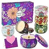 WONSEFOO Velas Perfumadas, Juego de Velas 6 PCS, Velas Aromaticas, Velas de Aromaterapia Cera de Soja, Aliviar el Estrés, Adecuadas para , Dormitorio, Cumpleaños, Navidad Día de San Valentín Regalos