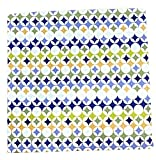 Caleffi - Colcha de piqué de algodón puro para cama de una plaza y media, art. Roxi, 220 x 260 cm, color azul